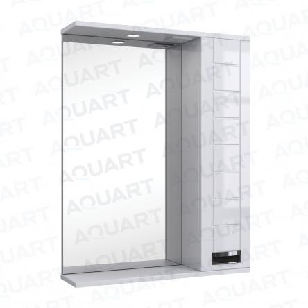 Aquart MARSEL Зеркало 70 (Белое), с подсветкой