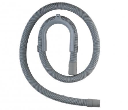 Luxor (19x25) Гибкий шланг отвод воды д/стиральной машины изогнутый mm.1000 (19x21)