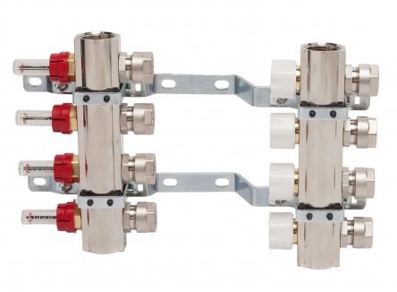 Luxor Коллектор в сборе для подключ. 9 контуров, с расход. и термоклап., в фабр. упак.