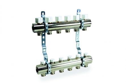 Luxor Коллектор в сборе для подключ. 10 контуров, с отсек. и термоклап., в фабр. упак.