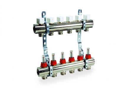 Luxor Коллектор в сборе для подключ. 11 контуров, с расход. и термоклап., в фабр. упак.