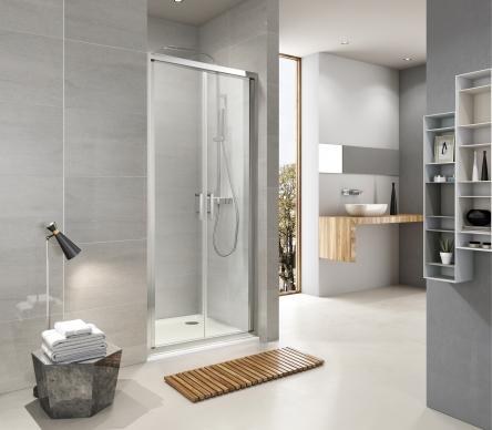 Koller Pool ND90C Душевая дверь NEON двухсекц. распашная 900x1900 мм стекло прозрачное - ND90C