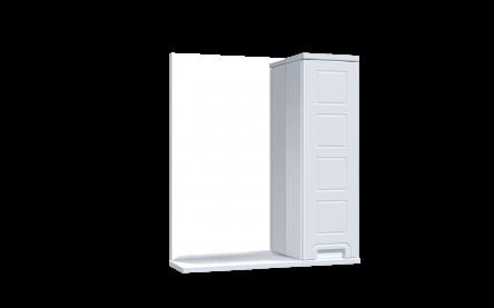 Aquart FORM Зеркало со шкафчиком 60 (белое), без подсветки