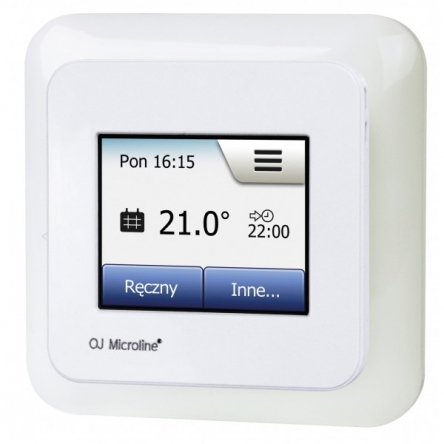 Oj Electronics Термостат сенсорний OCD5-1999-RUP3 містить датчик температури повітря (вбудований) і поставляється з зовнішнім датчиком (монтуется в підлогу)