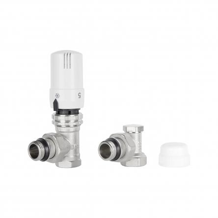 """Комплект термостатичний SD Plus 1/2"""" для радіатора кутовий SD352W15"""