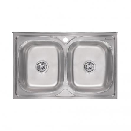 Imperial Кухонная мойка двойная 5080 Satin (IMP5080SATD)
