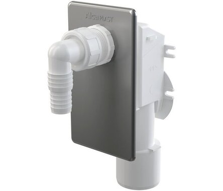 Сифон для стиральной машинки под штукатурку хромированный APS3