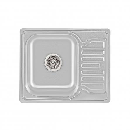 Кухонна мийка Lidz 5848 Satin 0,8 мм (LIDZ5848SAT)