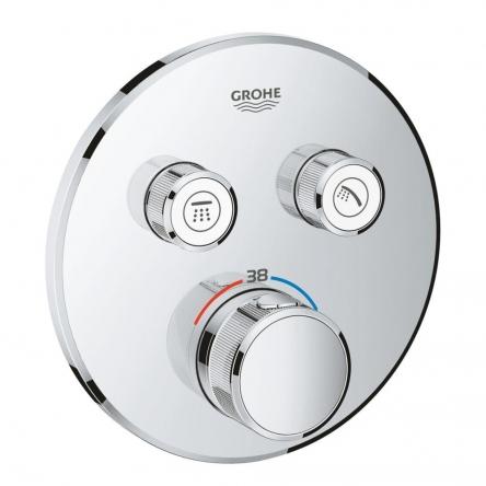 Grohe SMARTCONTROL термостат для душа, внешняя часть, на 2 выхода, хром - 29119000