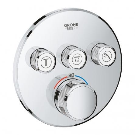 Grohe Grohtherm SmartControl 29121000 Термостат прихованого монтажу із 3 кнопками керування - 29121000