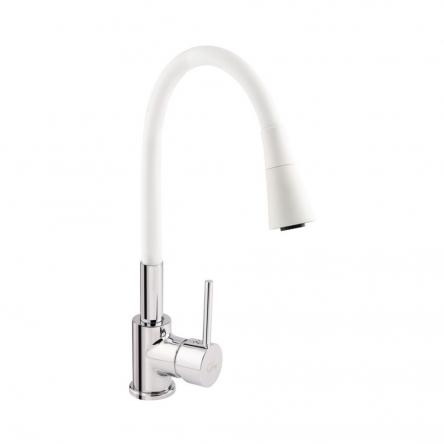 Змішувач для кухні з рефлекторним виливом Qtap Spring CRW 007F-1