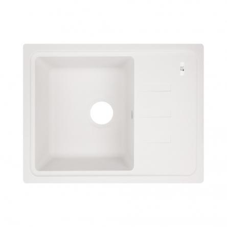 Кухонна мийка Lidz 620x435/200 WHI-01 (LIDZWHI01620435200)