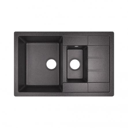 Кухонна мийка Lidz 780x495/200 BLA-03 (LIDZBLA03780495200)