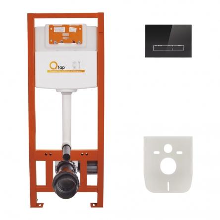 Набір інсталяція 4 в 1 Qtap Nest ST з лінійною панеллю змиву QT0133M425V1107GB