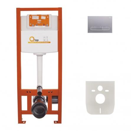 Набір інсталяція 4 в 1 Qtap Nest ST з лінійною панеллю змиву QT0133M425M08382SAT