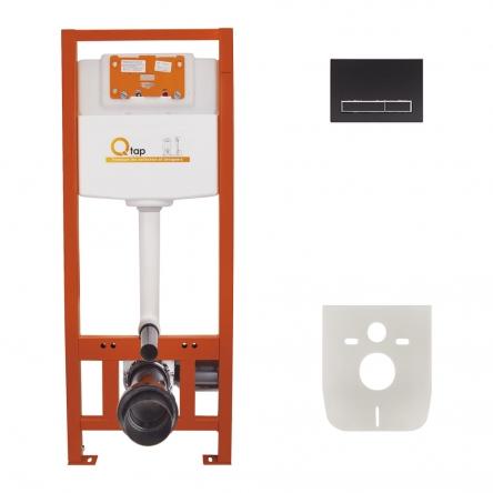 Набір інсталяція 4 в 1 Qtap Nest ST з лінійною панеллю змиву QT0133M425M08V1091MB
