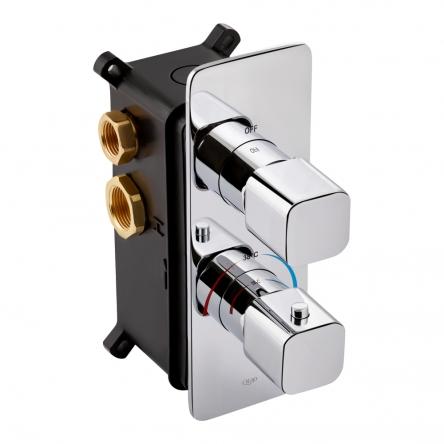 Змішувач термостатичний прихованого монтажу для душу Qtap Votice 65T105NGC