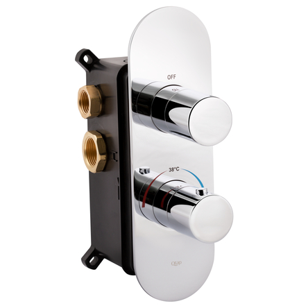 Змішувач термостатичний прихованого монтажу для душу Qtap Votice 65T105OGC