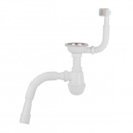 Сифон для кухонної мийки Lidz (WHI) 60 05 M001 01