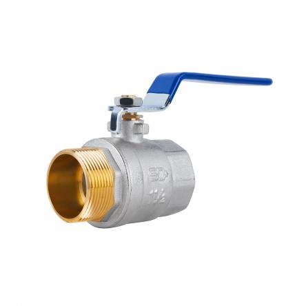 """Кран кульовий SD Plus 1"""" 1/2 ВЗ для води (важіль) SD605W40"""