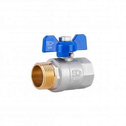 """Кран кульовий SD Plus 3/4"""" ВЗ для води (метелик) SD607W20"""