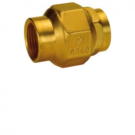 """Arco Обратный клапан латунь 1"""" 1/2 ВВ STOP (191207)"""