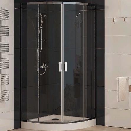 Koller Pool LLR2/900 Brillant/Transparent Душевая кабина полукруглая - 555-9000KP0-00-02