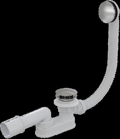 Сифон для ванны click-clack, металлический (A507KM)