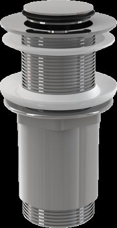"""Alcaplast Водослив д/умывал. CLICK-CLAK 5/4"""" цельнометал, с малой заглушк. (для пласт. и стекл. ум-ков) (A394)"""