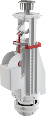 Сливной механизм с двойной кнопкой 590x390x430 A08