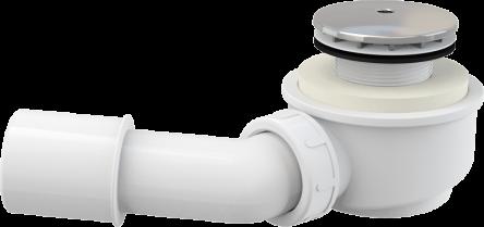 Alcaplast Выпускной комплект для душевого поддона заниженный, хромированный пластик, d50 (A471CR-50)