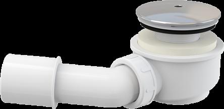 Alcaplast Выпускной комплект для душевого поддона заниженный, хромированный пластик, d60 (A471CR-60)