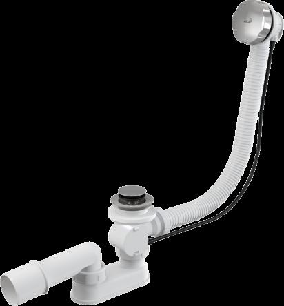 Сифон для ванны автомат комплект металл 57cm (A55K)