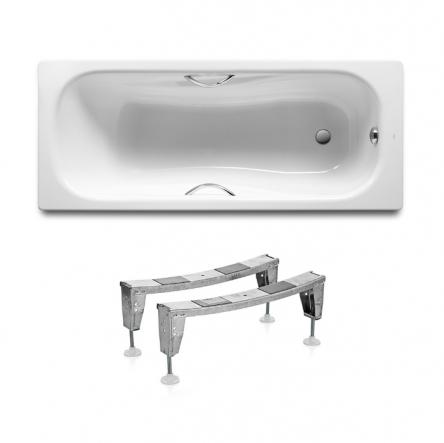 Roca Комплект: PRINCESS ванна 150*75см прямоугольная, с ручками + ножки - A220470001+A291021000