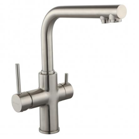 Imprese DAICY смеситель для кухни однорычажный с подключением питьевой воды, сатин - 55009S-F