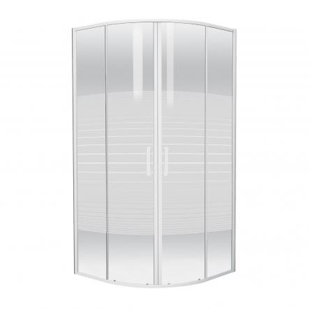 """TISZA (AMUR) душевая кабина 90*90*185 см (стекла+двери), профиль белый, стекло """"Frizеk"""" : 599-021/1-A"""