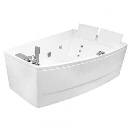 Ванна 170*120*63см, асимметричная, гидромассажная, правая
