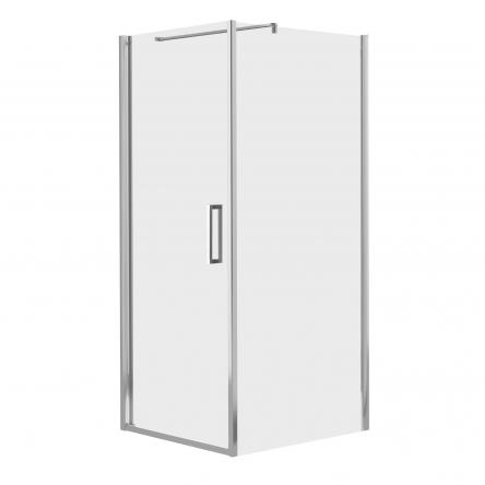 RUDAS душевая кабина 90*90*200 см, квадратная,  распашная, левая, стекло прозрачное (стекла+двери) : 599-001/1L