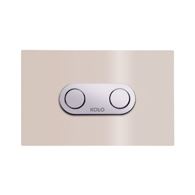 Kolo CAMELEON спускная кнопка со спускным устройством, бежевое стекло - 94153003