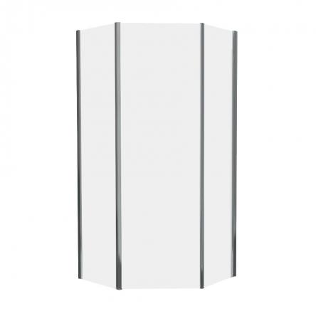 STEFANI душ кабина без поддона 100*100*190 см, пятиугольная (стекла+двери) прозрачная-ВЫПИСЫВАТЬ С КОМПЛЕКТОМ 599-535/3 : 599-535-100/1