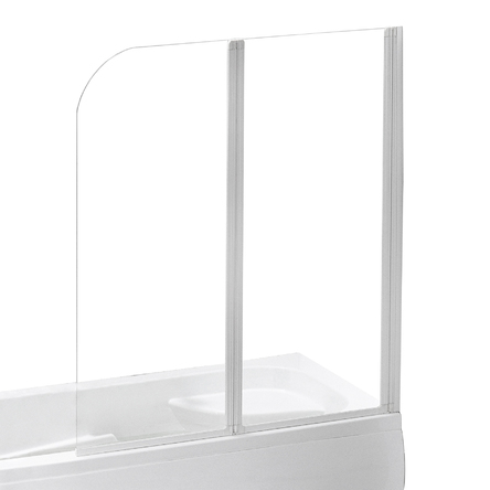 Eger Шторка на ванну 120*138 см, цвет профиля белый