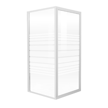 """EGER FRIDA душевая кабина 90*90*185см (стекла + двери), профиль белый, стекло """"Frizek"""" - 599-151/1"""