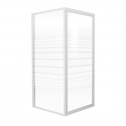 """FRIDA душевая кабина 90*90*185 см, профиль белый, стекло """"Frizek"""" (стекла+двери) : 599-151/1"""