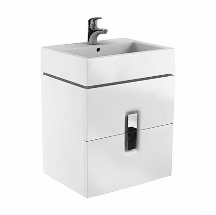 Kolo TWINS шкафчик под умывальник 60см, с двумя ящиками, белый глянец (пол.) - 89492000