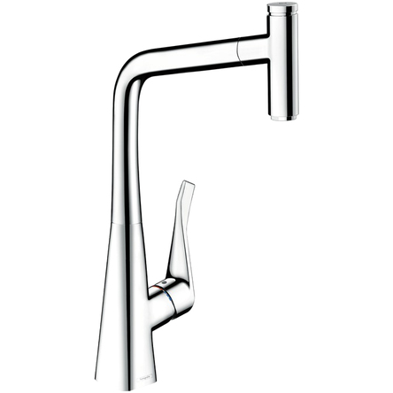 Hansgrohe Metris Select Смеситель для кухни 320, однорычажный, с выдвижным изливом - 14884000