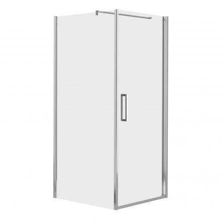 RUDAS душевая кабина 90*90*200 см, квадратная, правая, распашная, стекло прозрачное (стекла+двери) : 599-001/1R