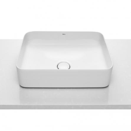 Roca INSPIRA Square умывальник 500*370*140мм, квадратный, накладной, без отв. под смеситель, без перелива  (A327530000)