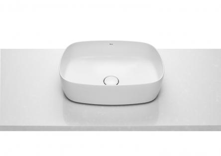 Roca INSPIRA Soft умывальник 500*370*140мм, овальный, накладной, без отв. под смеситель, без перелива  (A327500000)