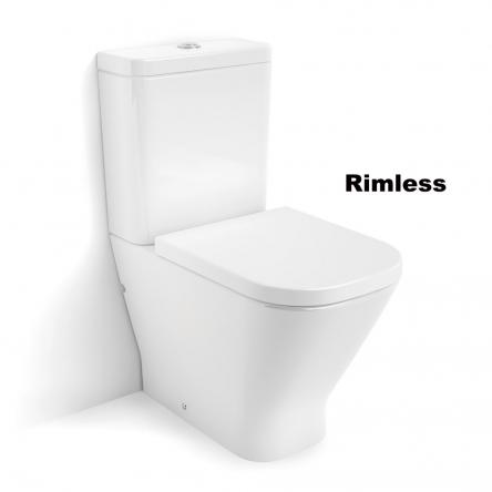 Roca GAP Rimless унитаз напольный, в комплекте с бачком, с сиденьем с системой плавного опускания - A34D738000