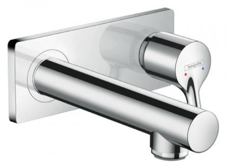 Hansgrohe Talis S Смеситель для раковины, однорычажный, с изливом 165 мм, скрытый настенный монтаж, хром - 72110000